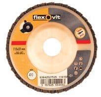 Flexovit Flap Discs 115mm - Coarse